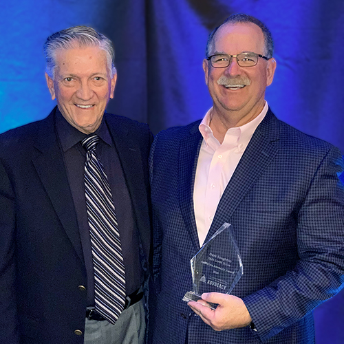 SAFE Credit Union Board Chairman Terrance Tremelling and President and CEO Dave Roughton at 2019 REACH awards 2