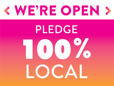 Take the 100 percent pledge sign