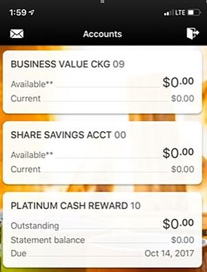 SAFE Credit Union Mobile App new interface