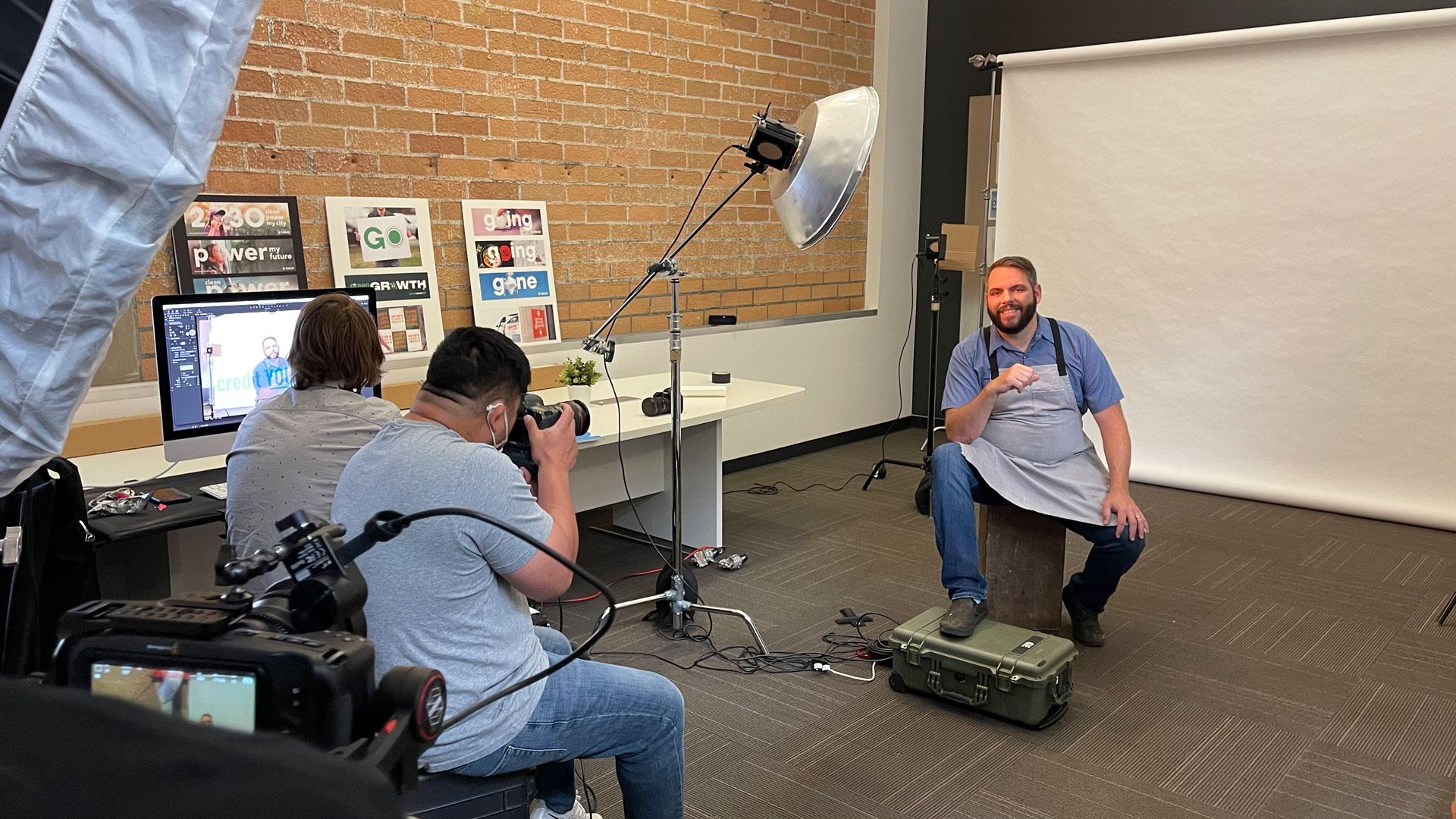 Behind the scenes with Brad Cecchi.