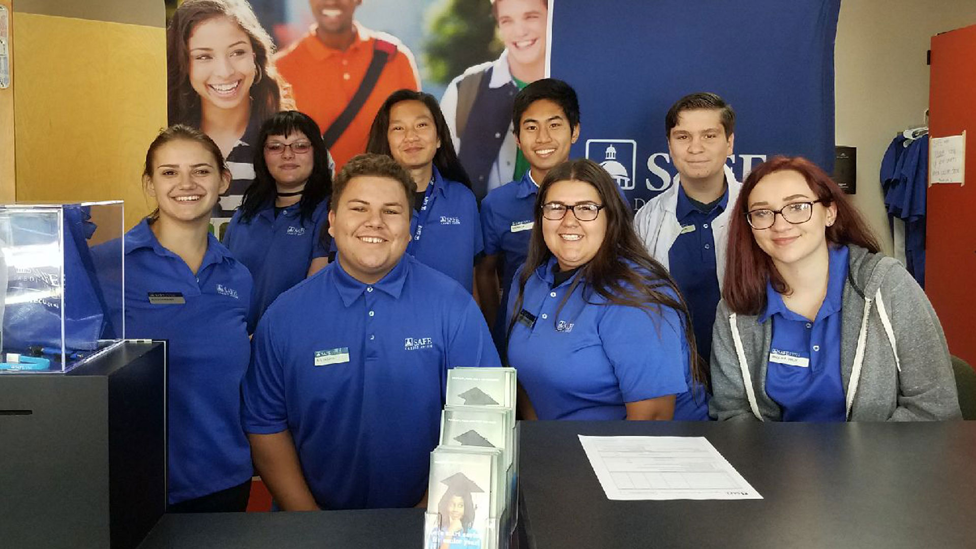 High school students lead and learn at campus SAFE branches