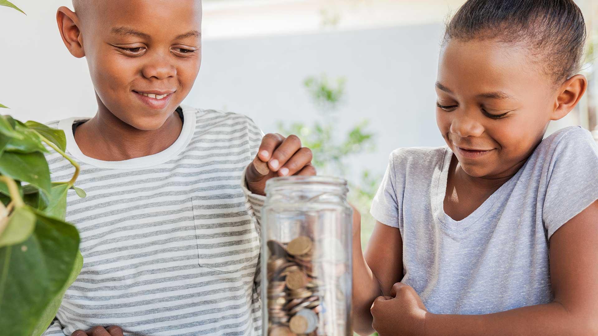 Teaching kids how to save