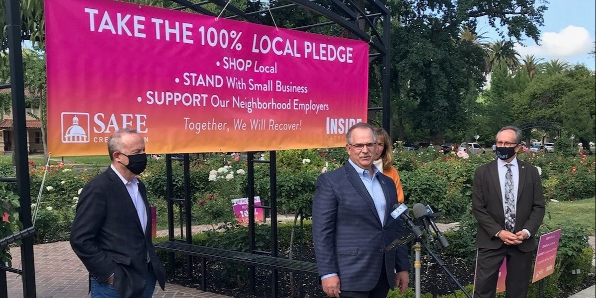 Take the 100% Local Pledge to support Sacramento area businesses